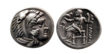 KINGS of MACEDON. Alexander III. 336-323 BC. AR Drachm. Sardis mint.