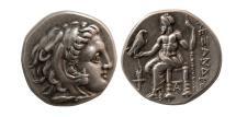 Ancient Coins - KINGS OF MACEDON, Alexander III. 336-323 BC. AR Drachm. Sardes mint.