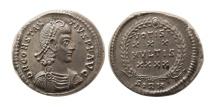Ancient Coins - ROMAN EMPIRE. Constantius II. 337-361 AD. AR Siliqua. Sirmium mint.  Lovely strike.