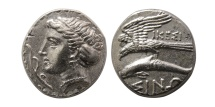 Ancient Coins - PAPHLAGONIA, Sinope. ca. 330-300 BC. Silver drachm.