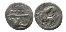 PHOENICIA, Byblos (Gebal). Circa 400-376 BC. AR Shekel.