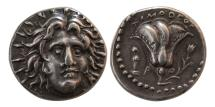 Ancient Coins - CARIA, Islands off. Rhodes. Ca. 250-230 BC. AR Didrachm.