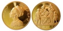 Ancient Coins - PAHLAVI DYNASTY. 1320-1358 H.(1941-1979). Gold Medal. Choice UNC. Lustrous.