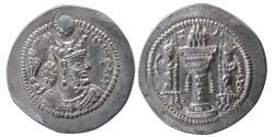 Ancient Coins - SASANIAN KINGS. Varahran (Bahram) V. AD. 420-438. AR Drachm. RD (Ray)mint, 1st series.