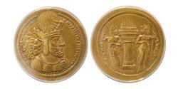Ancient Coins - SASANIAN KINGS, Shahpur I. AD. 241-272. Gold Dinar. ANACS-AU55.