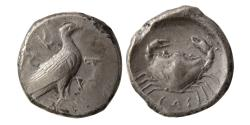 Ancient Coins - SICILY, Akragas. Circa 480-470 BC. Silver Didrachm.