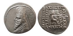 Ancient Coins - KINGS of PARTHIA. Gotarzes I. 91-87 BC. AR Drachm. Scarce.