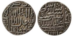 World Coins - INDIA, Delhi Sultans. Islam Shah. 1545-1552 AD. AR Rupee. Chunar mint, dated 953 AH.