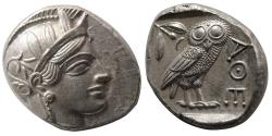 Ancient Coins - ATTICA, Athens. 440-404 BC. Silver Tetradrachm. Lovely strike. Lustrous.
