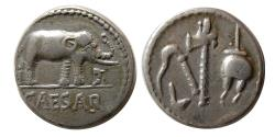 Ancient Coins - ROMAN IMPERATORIAL. Julius Caesar. 49-48 BC. AR Denarius.