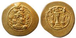 SASANIAN KINGS. Peruz. AD. 457/9-484. Gold Dinar. BBA (Court at Ctesiphon) mint. Lovely Strike.