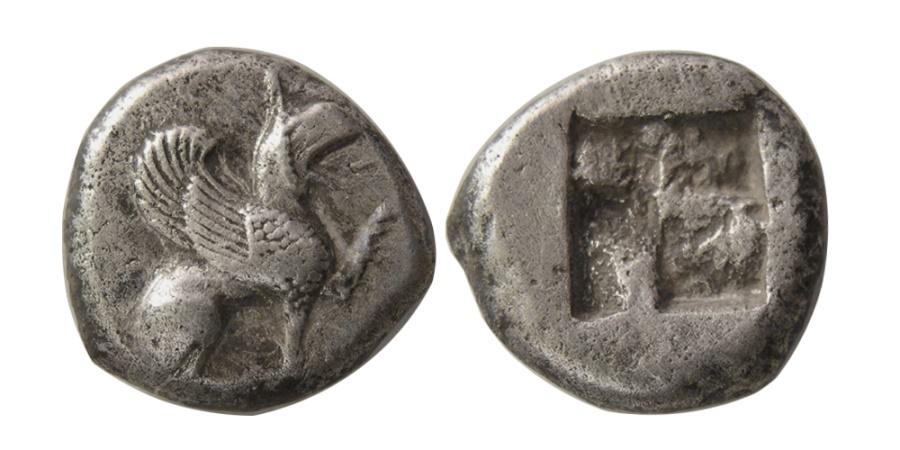 Ancient Coins - IONIA, Teos. Circa 540-478 BC. AR Half Stater. Rare.