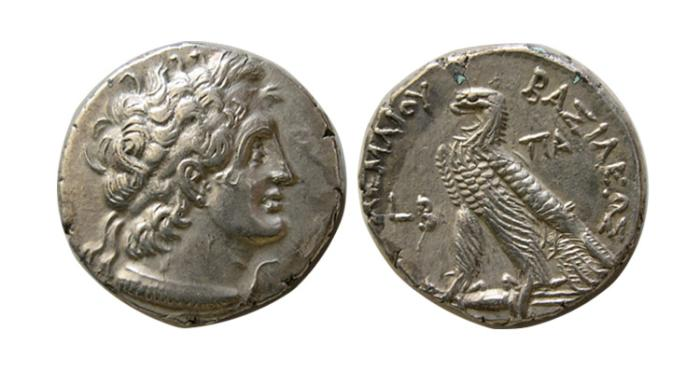 Ancient Coins - PTOLEMAIC KINGS of EGYPT. Ptolemy VI Philometor. 163-145 BC. AR Tetradrachm