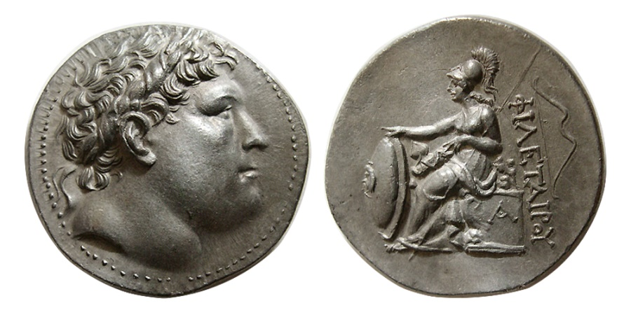 Ancient Coins - KINGS of PERGAMON. Eumenes I. 263-241 BC. AR Tetradrachm. Lovely example. Choice Superb !