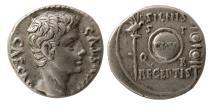 Ancient Coins - ROMAN EMPIRE. Augustus. 27 BC-AD 14. Silver Denarius. Colonia Patricia mint.
