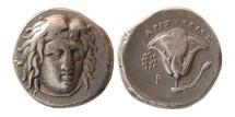 Ancient Coins - CARIA, Islands off. Rhodes. Circa 275-250 BC. AR Didrachm.