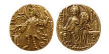 World Coins - INDIA, KUSHAN KINGS. Shaka. 310-345 AD. Gold Dinar.