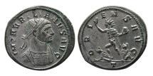 Ancient Coins - ROMAN EMPIRE. Aurelian. AD 270-275. Silvered Æ Antoninianus. Lovely strike. Choice FDC.
