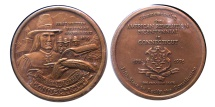 World Coins - U.S. Official State of Connecticut Antique Bronze Medal.  Commemorating the 200th Anniversary of the American Revolution.