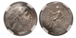 Ancient Coins - SELEUKID KINGDOM, Antiochus I. 281-261 BC. AR Tetradrachm. NGC Choice AU.