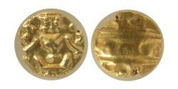 INDIA, Mysore.  (1638-1662). Gold Fanam. PCGS-MS 63.