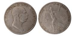World Coins - AUSTRIA, Franz Joseph I. 1848-1908. AR 5 Corona. Commemorating 60th anniversary of his reign.