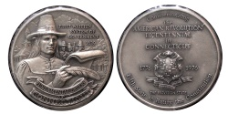 World Coins - U.S. Official State of Connecticut Silver Medal. Commemorating the 200th Anniversary of the American Revolution.