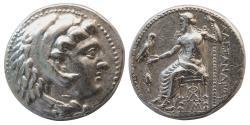 Ancient Coins - KINGS OF MACEDON. Alexander III 'the Great', 336-323 BC. AR Tetradrachm. Lifetime issue. Babylon.
