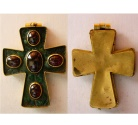 Ancient Coins - BYZANTINE Large Gold Cross. Ca. 12th Century AD. Extremely Rare.