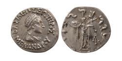 Ancient Coins - INDO-GREEK KINGS, Menander I. Ca. 165/55-130 B.C. AR drachm. Choice Superb.