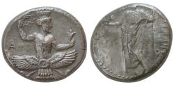 Ancient Coins - ACHAEMENID SATRAPS, Tribazos. Satrap of Lydia. Ca. 388-380 BC. AR Stater. Extremely rare.