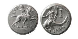 Ancient Coins - CALABRIA, Tarentum. Circa 240-228 BC. Silver Nomos.