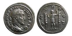 Ancient Coins - ROMAN EMPIRE. Maximinus I. AD. 235–238. AR Denarius. Lovely strike.