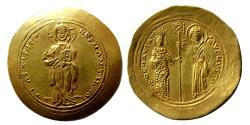 Ancient Coins - BYZANTINE EMPIRE. Theodora. AD. 1055-1056. AV Histamenon Nomisma. Lovely strike. Rare.
