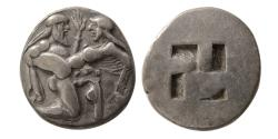 Ancient Coins - ISLANDS OF THRACE, THASOS. Ca. 480-463 BC. Silver Stater.