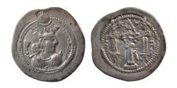 Ancient Coins - SASANIAN KINGS. Valkash. AD. 484-488. Silver Drachm. AS mint. Scarce.