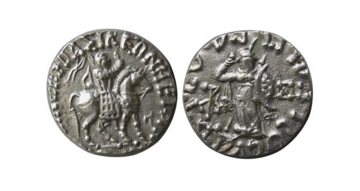 Ancient Coins - INDO-SCYTHIAN KINGS, Azes Circa 58-20/19 BC. AR Drachm
