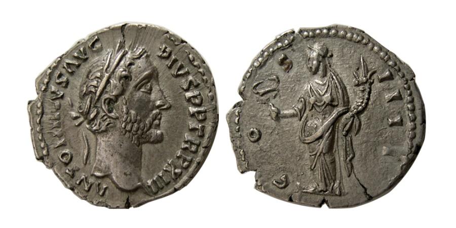 Ancient Coins - ROMAN EMPIRE. Antoninus Pius. AD 138-161. AR Denarius.