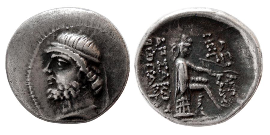 Ancient Coins - KINGS of PARTHIA. Phraates II. 132-127 BC. AR Drachm.