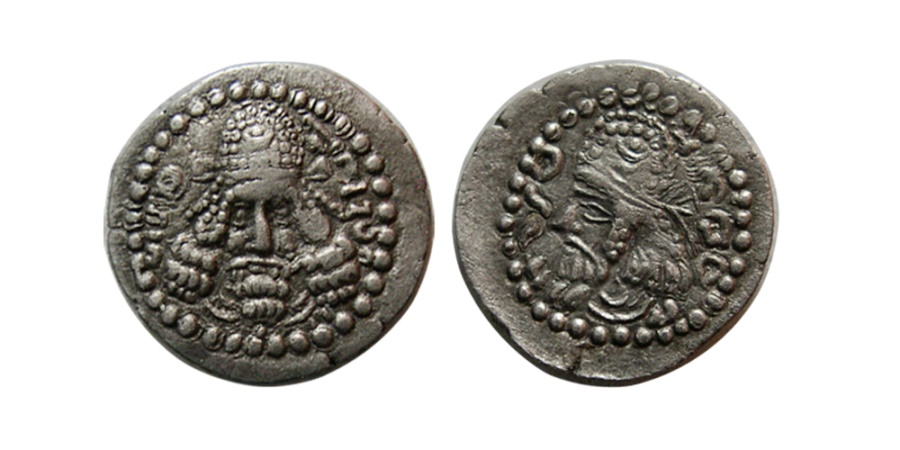 Ancient Coins - SASANIAN KINGS. Ardashir I. AD. 223/4-240. Silver Obol. Very rare. From The Sunrise Collection.