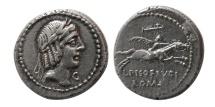 ROMAN REPUBLIC. L. Calpurnius Piso Frugi. 90 BC. Silver Denarius.