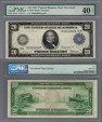 World Coins - US Early Large Bank Notes. $ 20. 1914. PMG-EF40. EPQ (Exceptional Paper Quality).