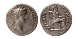 """Ancient Coins - ROMAN EMPIRE. Tiberius 14-37 AD. AR Denarius """"Tribute Penny""""."""