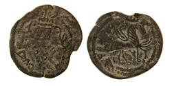 Ancient Coins - ARAB-SASANIAN, Æ. Bishapur mint. Unpublished type. Extremely Rare.