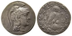 Ancient Coins - ATTICA, Athens. Ca. 185/180- 145 BC. AR Tetradrachm. New Style Coinage. Ex. Hanbery Collection.