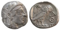 Ancient Coins - ATTICA, Athens. 440-404 BC. Silver Tetradrachm.