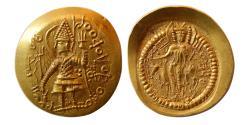 Ancient Coins - INDIA; KUSHAN KINGS. Vasudeva II. 290-310 AD. Gold Dinar. Choice FDC. Lustrous.