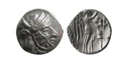 Ancient Coins - SELEUKID EMPIRE, Antiochos I, with Seleukos I. AR Drachm. Coregency issue. Drangiana, 294-281 BC.
