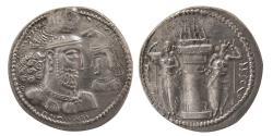 Ancient Coins - SASANIAN KINGS. Varhran (Bahram) II. AD. 276-293. AR Drachm. Lovely strike. Rare Variety.