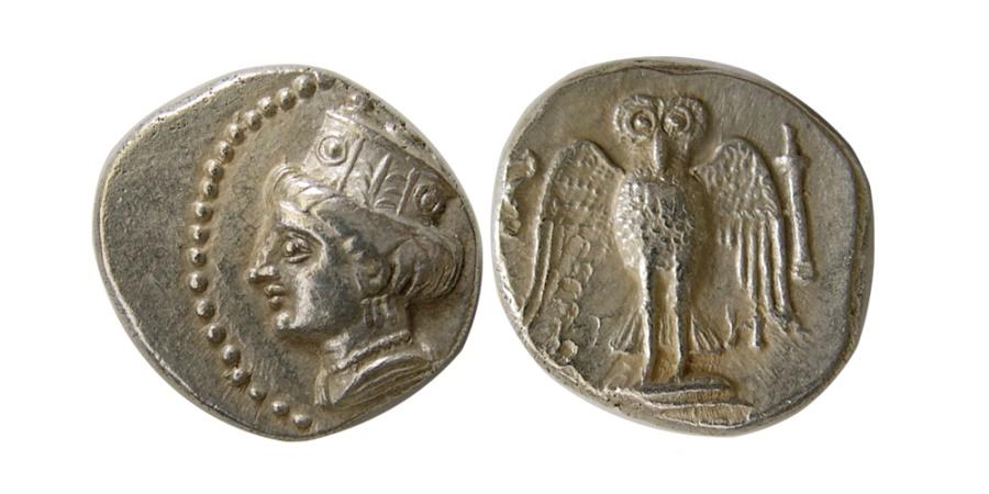 Ancient Coins - PONTOS, Amisos. Late 5th-4th century BC. AR Siglos.